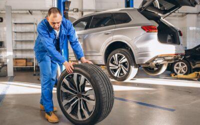 Reifenmontage-Radwechsel